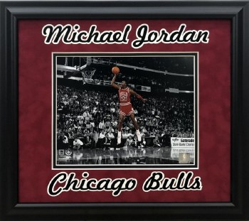 MICHAEL JORDAN UNSIGNED CUSTOM FRAMED 8X10 PHOTO