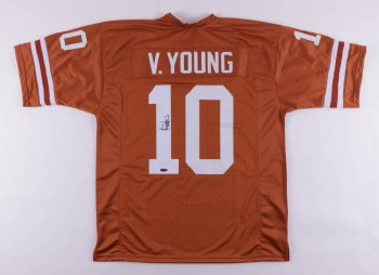 VINCE YOUNG AUTOGRAPHED HAND SIGNED UT LONGHORNS JERSEY