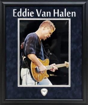 EDDIE VAN HALEN AUTOGRAPHED HAND SIGNED CUSTOM FRAMED 11X14 PHOTO