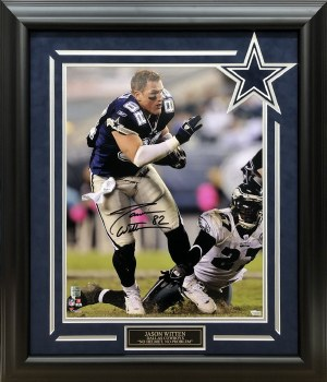 JASON WITTEN AUTOGRAPHED HAND SIGNED CUSTOM FRAMED DALLAS COWBOYS 16X20 PHOTO