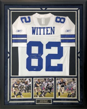 JASON WITTEN AUTOGRAPHED HAND SIGNED CUSTOM FRAMED DALLAS COWBOYS JERSEY