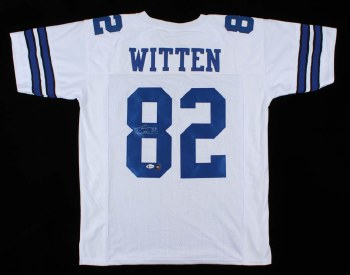 JASON WITTEN AUTOGRAPHED HAND SIGNED DALLAS COWBOYS JERSEY