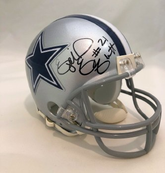 EZEKIEL ELLIOTT AUTOGRAPHED HAND SIGNED DALLAS COWBOYS MINI HELMET