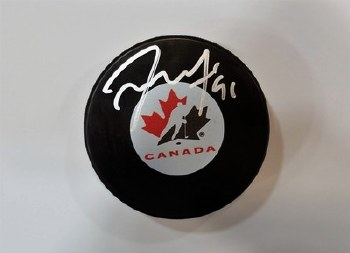 TYLER SEGUIN - STARS SIGNED CANADA PUCK