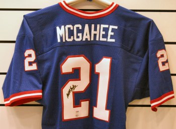 WILLIS MCGAHEE AUTOGRAPHED HAND SIGNED BUFFALO BILLS JERSEY