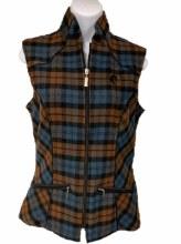 Arista Plaid Vest with Bit