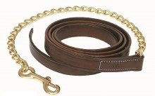 """Walsh Leather Lead with 30"""" Chain"""