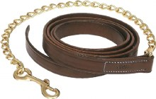 "Walsh Leather Lead with 30"" Chain"