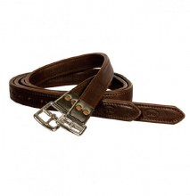 Beval Nylon Lined Flat Buckle Stirrup Leathers