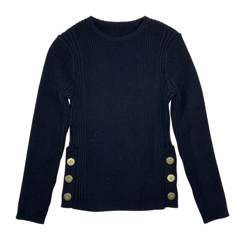 3 SIDE BUTTONS SWEATER BLK 18M