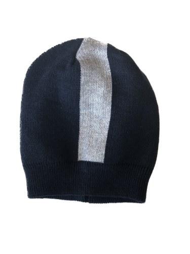 CENTER STRIPE KNIT HAT
