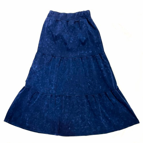 COTTON TIERED LONG SKIRT WAS/B