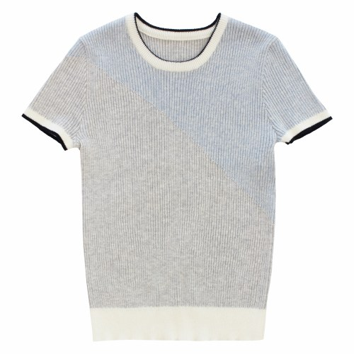 CURVE TWO TONE SWEATER