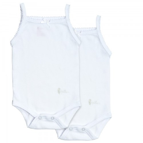 GIRL'S SOLID OVERALL WHT 3M