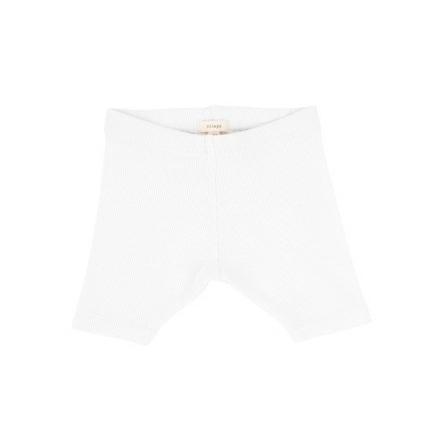 LIL LEGS RIBBED SHORTS PUR/WHT