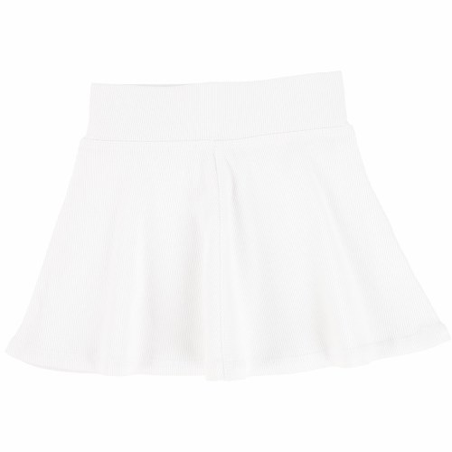 LIL LEGS RIBBED SKIRT  PUR/WHT