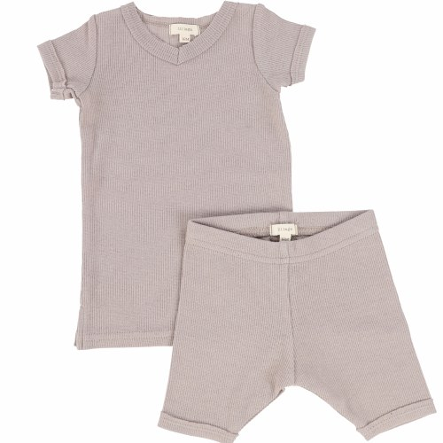 LIL LEGS S/S RIBBED SET