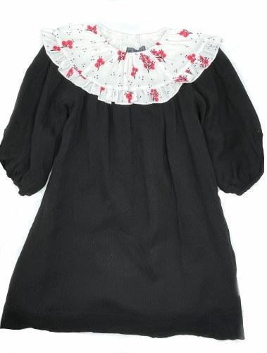 PRINT COLLAR DRESS