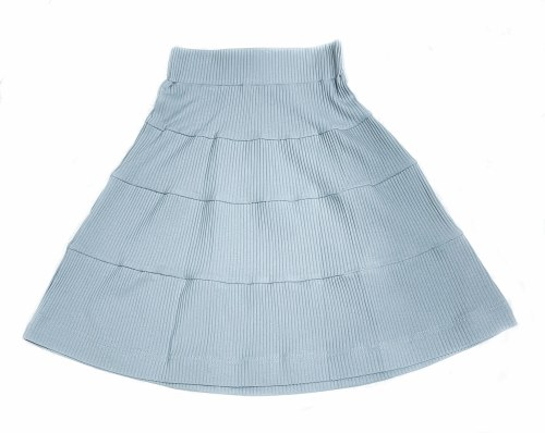RIBBED SOLID SKIRT