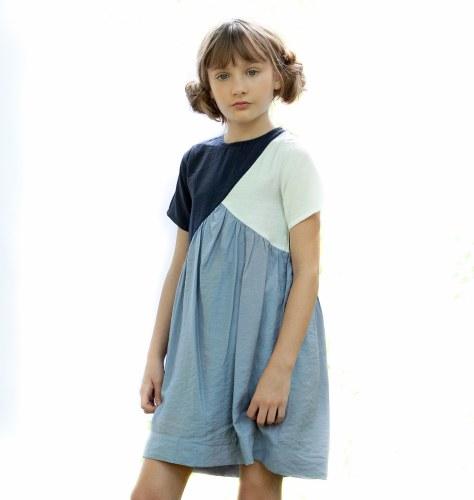 SKY BLOCK DRESS BLU 14
