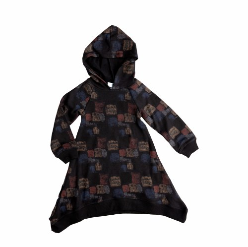 SQUARE HOODED DRESS