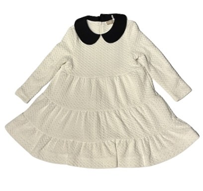 STILLMAN GIRL DRESS WHT/BLK 16