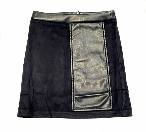 SUEDE FLAP SKIRT