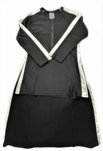 2 PIECE SWIM DRESS  BLKWHT XS