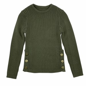 3 SIDE BUTTONS SWEATER GRN 18M