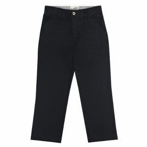 ALL NAVY  PANTS SLIM POLY COTT
