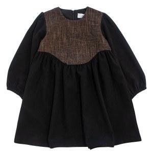 APPLIQUE DRESS BRN 3