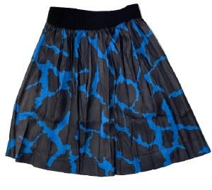BLACK AND BLUE SKIRT BLK/BLU 1