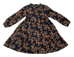 BLACK FLORAL DRESS BLK 5