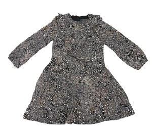 BLACK PRINT DRESS BLK 5