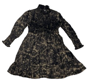 BLACK PRINT MOCK DRESS BLK 4