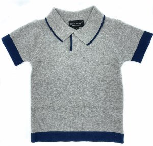 BLUE TRIM SWEATER GY 2