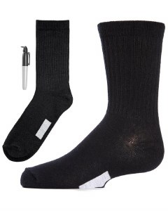BOYS PEN SOCK BLK 10-12