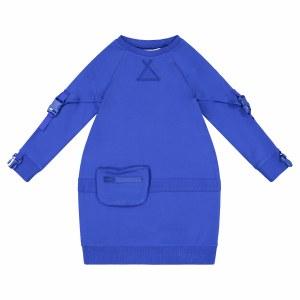 BUBBLE POUCH DRESS ROT/BLU 4