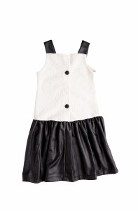 BUTTONBACK DRESS WI/WHT 12