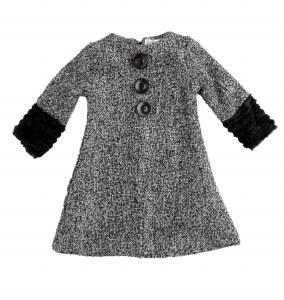 BUTTONDOWN DRESS BLK/GY 4