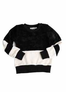 CHENILLE SWEATER BLK/OFW 2