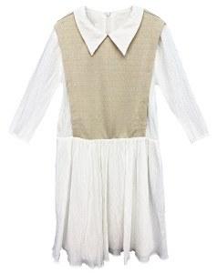 COLLARED DRESS WHT L