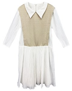 COLLARED DRESS WHT XS