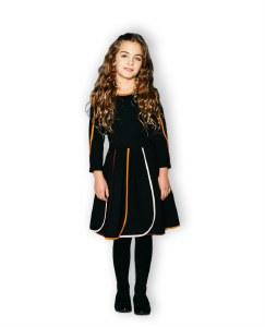 COLOR STRIPES DRESS BLK 4