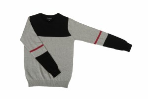 COLORBLOCK SWEATER  BLK/GY 2