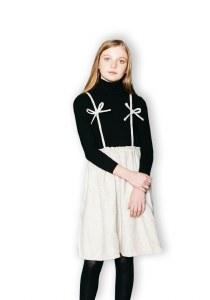 COLORED SPECKKLE DRESS BLK/IVO