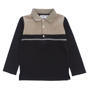 CONVERSTITCHED POLO BLK 5