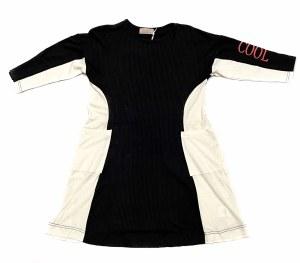 CORTLAND DRESS BLKWHT 6