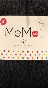 COTTON RIB TIGHTS  BLK 2
