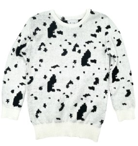 COWHIDE CABLE SWEATER BLK 3X